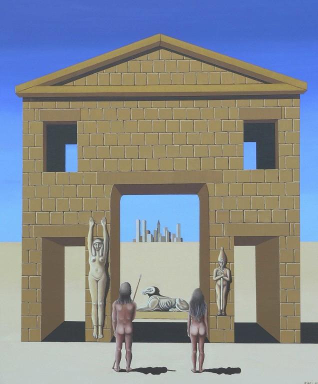 ANDARE OLTRE E L'EVOLUZIONE  cm 70x80 olio su tela 2012