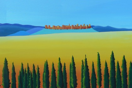 8 PAESAGGIO TOSCANO (Monteriggioni) cm 50x70